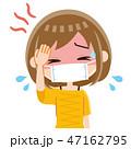 発熱 風邪 高熱のイラスト 47162795