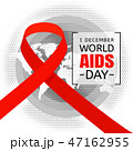World AIDS Day concept background, flat style 47162955