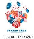 冬 販売 セールのイラスト 47163201