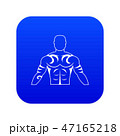 Muscular man with tattoo icon digital blue 47165218