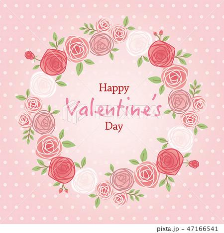 背景イラスト バラ バレンタイン 47166541
