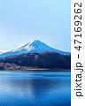 富士山 晴れ 河口湖の写真 47169262
