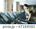 フィットネス スポーツジム トレーニング ミドル 女性 エクササイズ 47169382