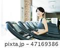 フィットネス スポーツジム トレーニング ミドル 女性 エクササイズ 47169386