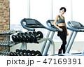 フィットネス スポーツジム トレーニング ミドル 女性 エクササイズ 47169391