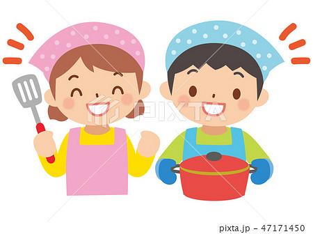 料理する子供 47171450