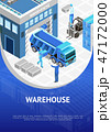 Blue warehouse presentation poster 47172000