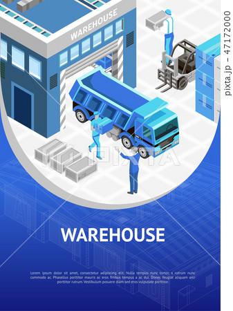Blue warehouse presentation poster 47172000
