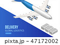 Flying airplane for global logistics webpage 47172002