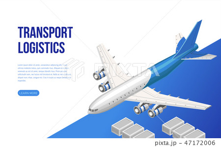 Isometric web design about transport logistics 47172006
