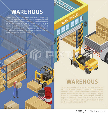 Warehouse illustrations with descriptions 47172009