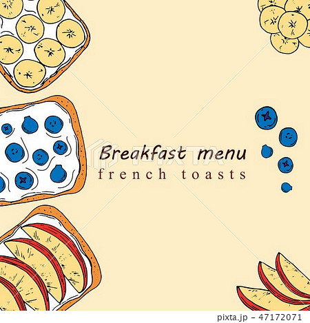 Hand drawn illustration of breakfast menu 47172071