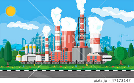 Industrial factory, power plant. 47172147