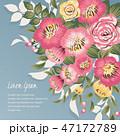 花束 フローラル フラワーのイラスト 47172789