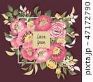 花束 フローラル フラワーのイラスト 47172790