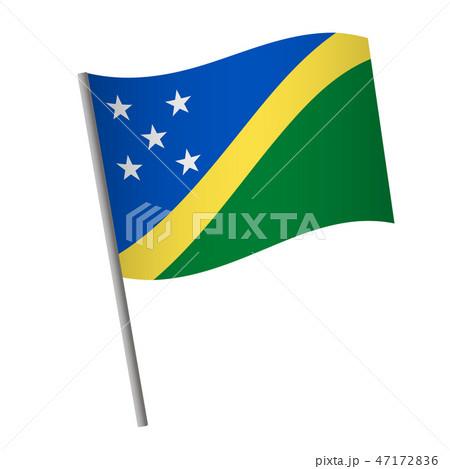 Solomon Islands flag icon. 47172836