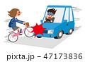 自転車と自動車の衝突事故 47173836