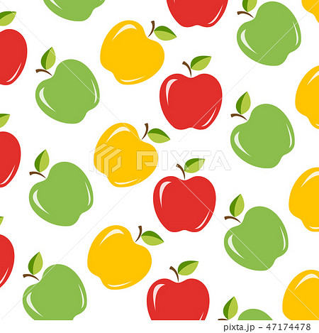 3 apples background 47174478