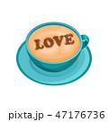 コーヒー 愛 LOVEのイラスト 47176736