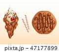 デザート おやつ お菓子のイラスト 47177899