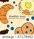 ブレックファースト 朝ごはん 朝食のイラスト 47178462