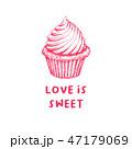 カップケーキ お菓子 スイーツのイラスト 47179069