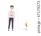 バーンアウト 焼損 ベクトルのイラスト 47179272