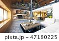 空間 部屋 インテリアのイラスト 47180225