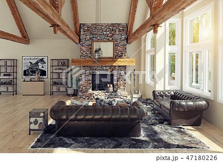 modern luxury house interior. 47180226