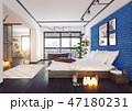 ベッドルーム 寝室 近代的のイラスト 47180231