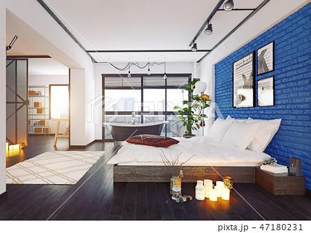 modern loft interior. 47180231