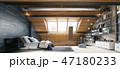 寝室 インテリア 近代的のイラスト 47180233
