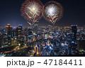 花火 花火大会 打ち上げ花火の写真 47184411