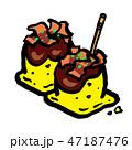 食べ物 料理 軽食のイラスト 47187476