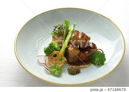 豚の角煮 オシャレ盛り 47188679