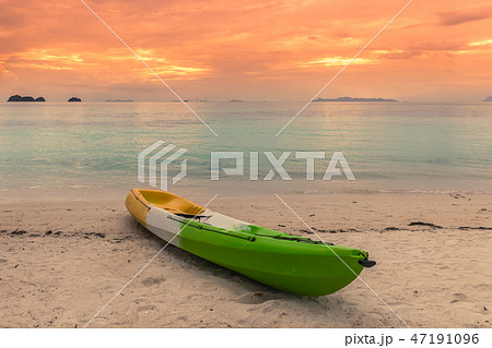 Colorful kayak on the tropical beach of Koh Samui island, Thailand in sunset time 47191096