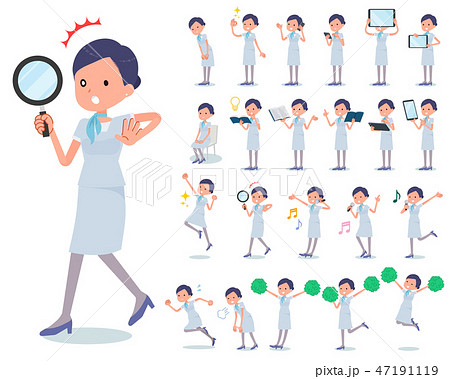 flat type Beauty staff women_Action 47191119
