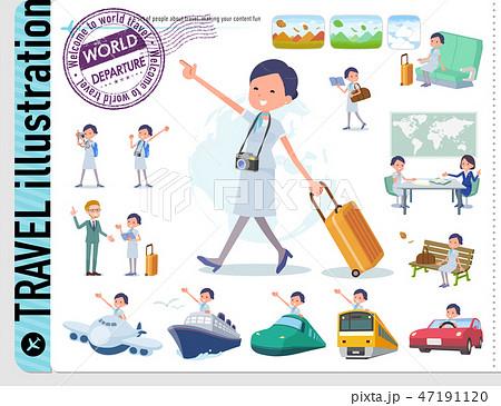flat type Beauty staff women_travel 47191120
