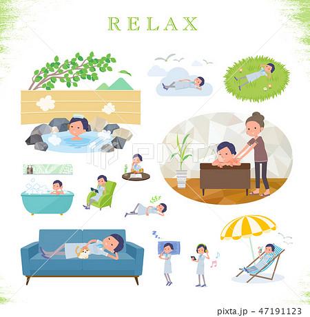 flat type Beauty staff women_relax 47191123