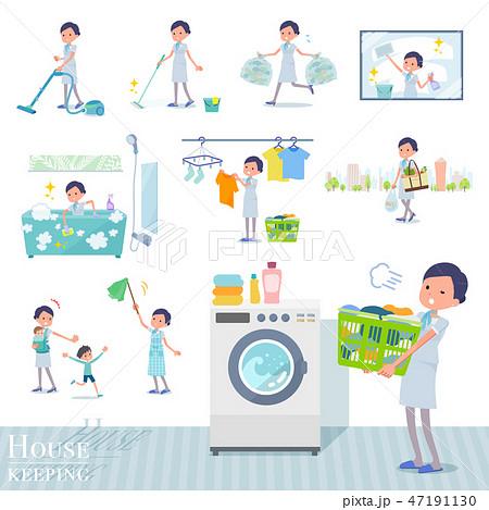 flat type Beauty staff women_housekeeping 47191130