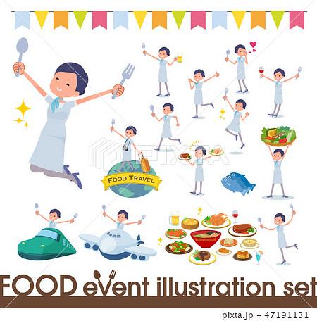 flat type Beauty staff women_food festival 47191131