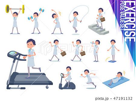 flat type Beauty staff women_exercise 47191132