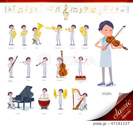 flat type Beauty staff women_classic music 47191137