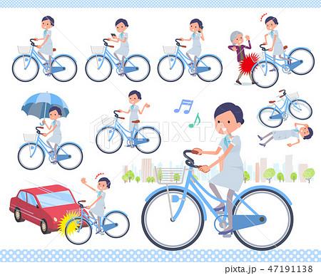 flat type Beauty staff women_city cycle 47191138
