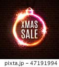 ネオン クリスマス 販売のイラスト 47191994