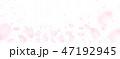 ベクター 春 桜吹雪のイラスト 47192945