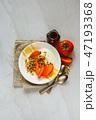ブレックファースト 朝ごはん 朝食の写真 47193368