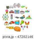 インフラ インフラストラクチャ アイコンのイラスト 47202146