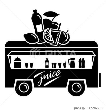 Trailer juice shop icon, simple style 47202200
