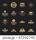 ベルト バックル ロゴのイラスト 47202745